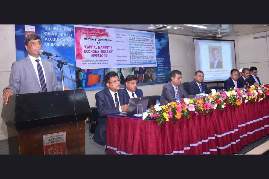 Prof. Dr. M. Khairul Hossain, Chairman, Bangladesh Securities and Exchange Commission (BSEC) attended the Seminar. Three BSEC Commissioners Prof. Md. Helal Uddin Nizami, Md. Amzad Hossain and Dr. Swapan Kumar Bala FCMA were present as Special Guests.