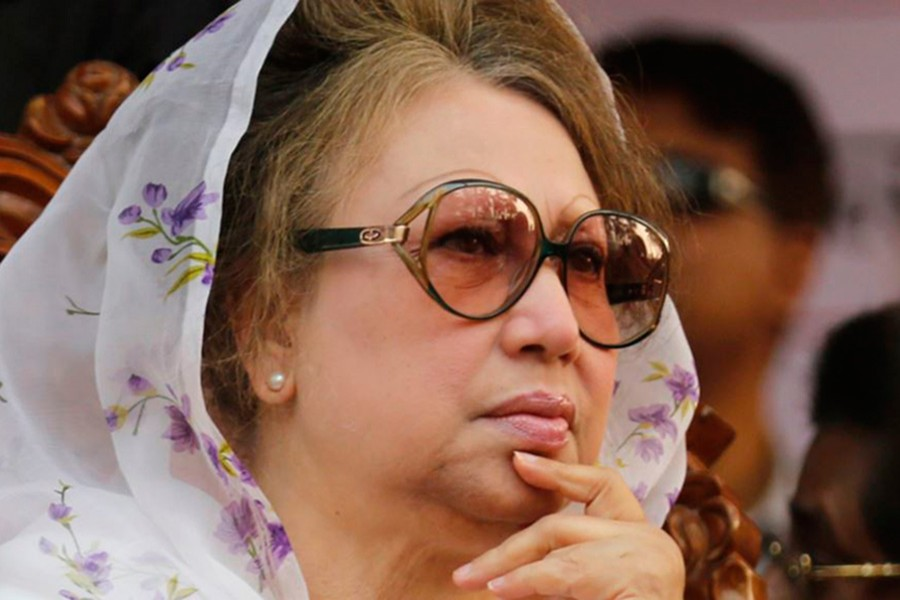 Khaleda returned home on Wednesday last from London after over a three-month stay there. - Reuters file photo