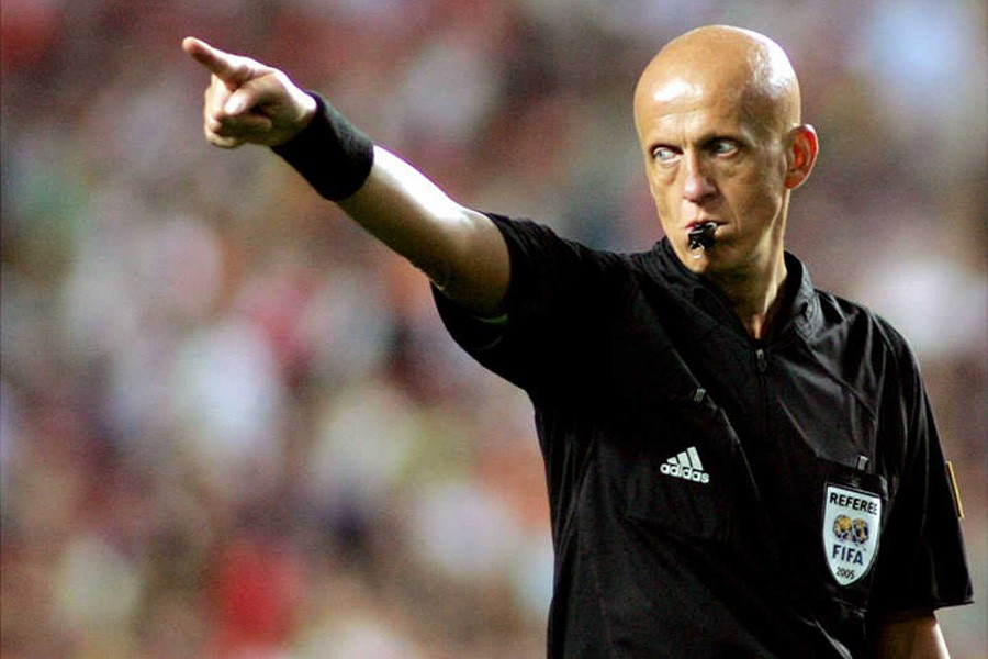 FIFA referees committee chairman Pierluigi Collina seen in this Reuters file photo
