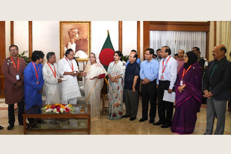 PM donates Tk 200m more to journalists' welfare trust