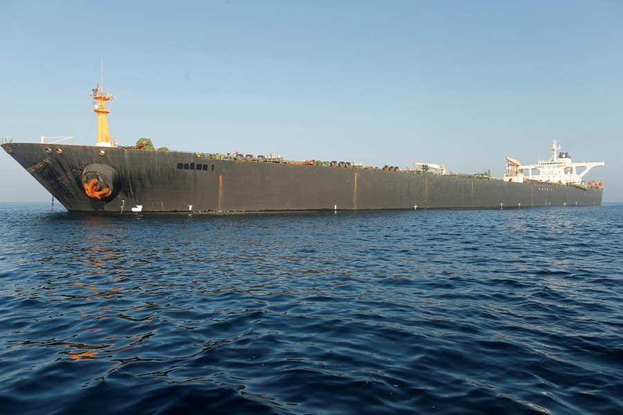World News August 17, 2019 / 1:57 PM / 2 days ago U.S. issues warrant to seize Iranian tanker off Gibraltar Marco Trujillo  3 Min Read  GIBRALTAR (Reuters) - The United States has issued a warrant to seize an Iranian oil tanker caught in the standoff between Tehran and the West in a last ditch effort to prevent the vessel from leaving Gibraltar. The name of Iranian oil tanker Grace 1 is seen removed as it sits anchored after the Supreme Court of the British territory lifted its detention order, in the Strait of Gibraltar, southern Spain on August 16, 2019 — Reuters photo