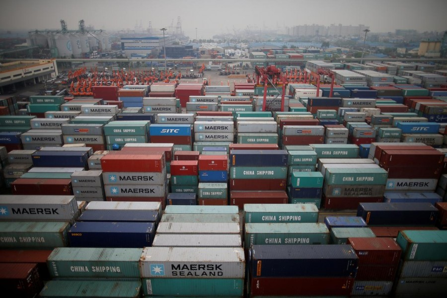 FILE PHOTO: A container terminal is seen at Incheon port in Incheon, South Korea, May 26, 2016. REUTERS/Kim Hong-Ji/File Photo