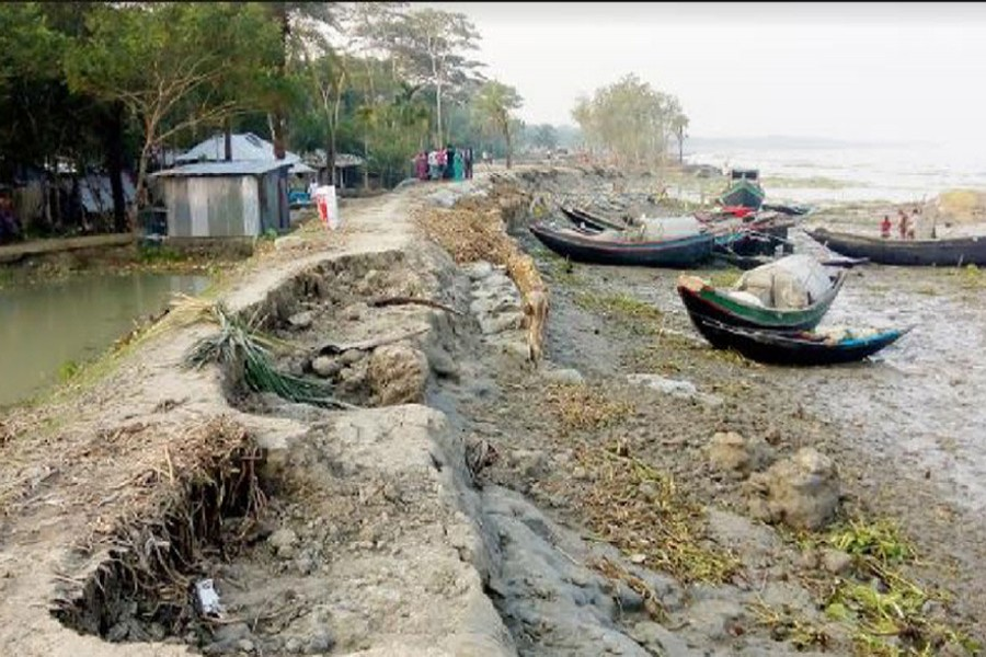 12 years into Sidr: Bagerhat residents yet to get durable embankment