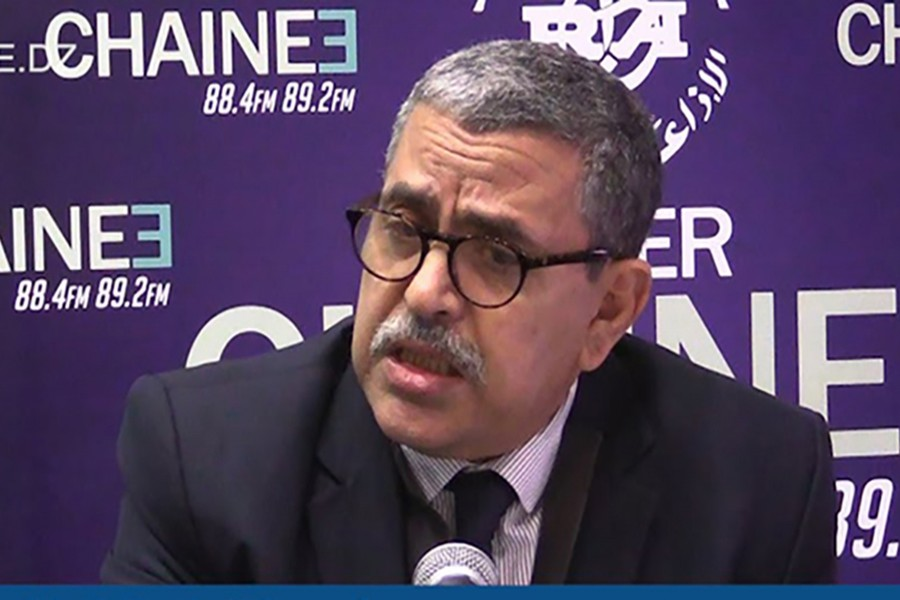 Abdelaziz Djerad seen in this undated file photo. Courtesy: Radio Algeria via YouTube