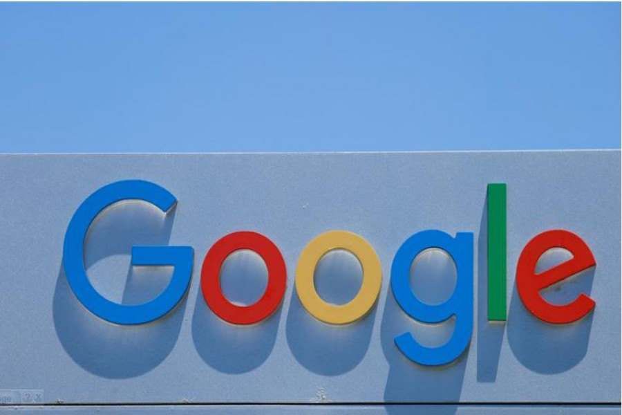 FILE PHOTO: A Google sign is shown at one of the company's office complexes in Irvine, California, U.S., July 27, 2020. REUTERS/Mike Blake/File Photo
