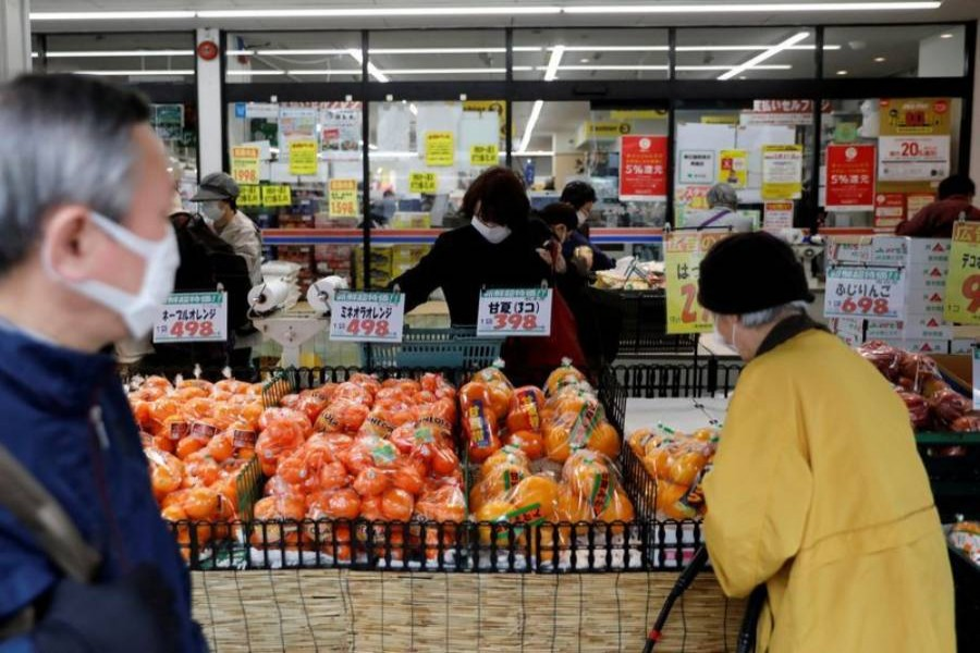 Japan's core consumer prices falls at sharpest pace in nine years
