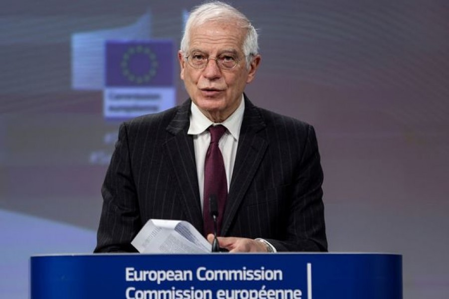 European Commission vice-president Josep Borrell speaks during a news conference on the EU's cybersecurity strategy, in Brussels, Belgium on December 16, 2020 — Pool via REUTERS/Files