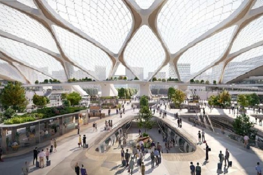 Representational image: An artist's impression of a proposal by Dutch company Hardt Hyperloop to build a hyperloop system linking Amsterdam's Schiphol airport to major European cities is seen in this handout image obtained by Reuters on June 10, 2020 — Plompmozes/Hardt Hyperloop/via Reuters