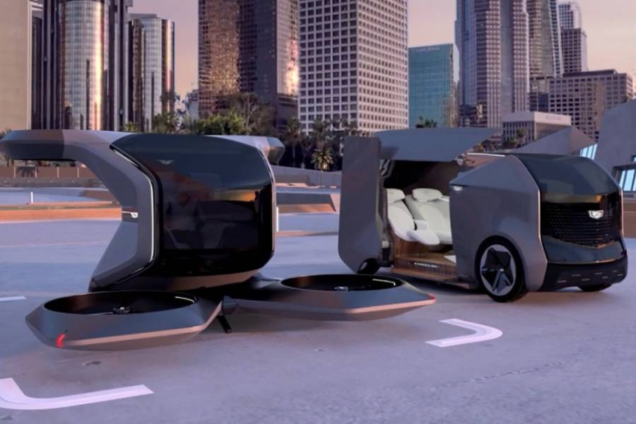 GM unveils futuristic vehicle: Look, up in the sky