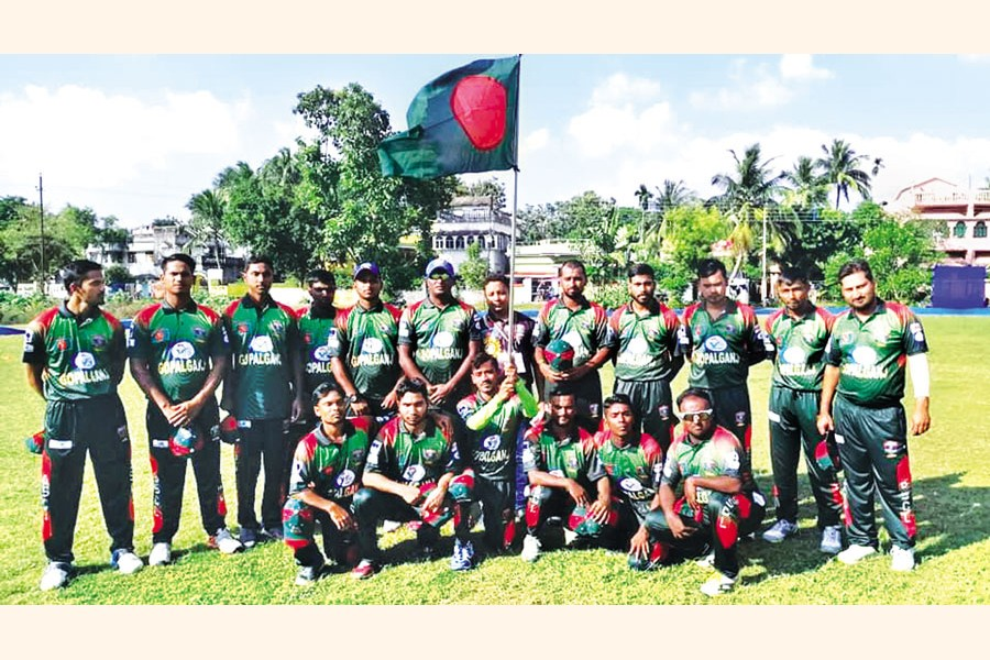 Players of the physically challenged cricket team in Gopalganj