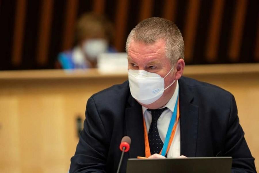 WHO Health Emergencies Programme Director Michael Ryan in Geneva, Switzerland on October 5, 2020 — WHO Handout via REUTERS