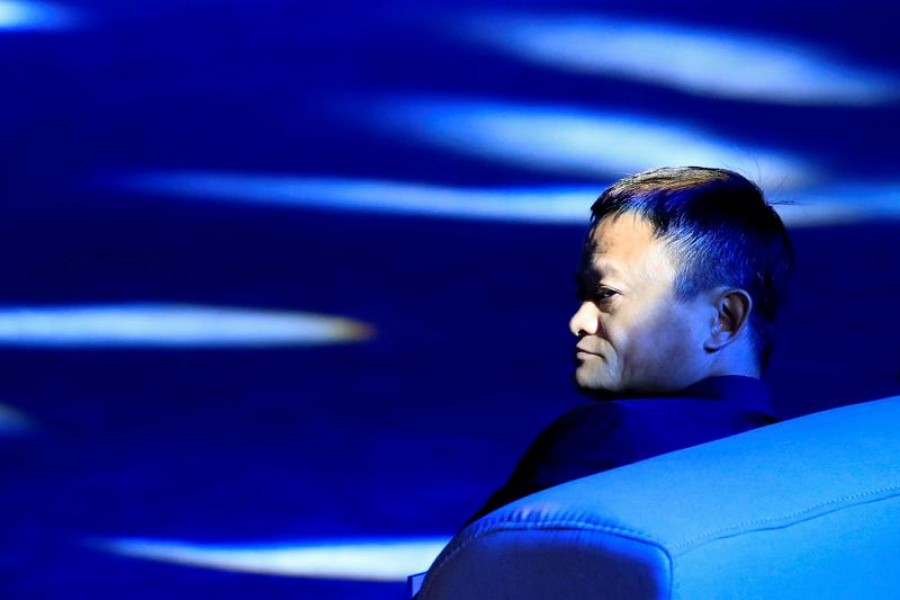 "Jack Ma, chairman of Alibaba Group, arrives at the ""Tech for Good"" Summit in Paris, France, May 15, 2019 -- Reuters/Files"