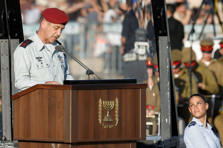 Israeli Chief of Staff Aviv Kohavi speaks at the Israeli Air Force pilots' graduation ceremony at Hatzerim air base in southern Israel on June 27, 2019 — Reuters/Files
