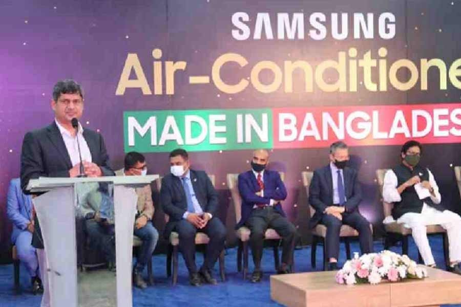 Samsung air conditioner manufacturing plant launched in Narsingdi