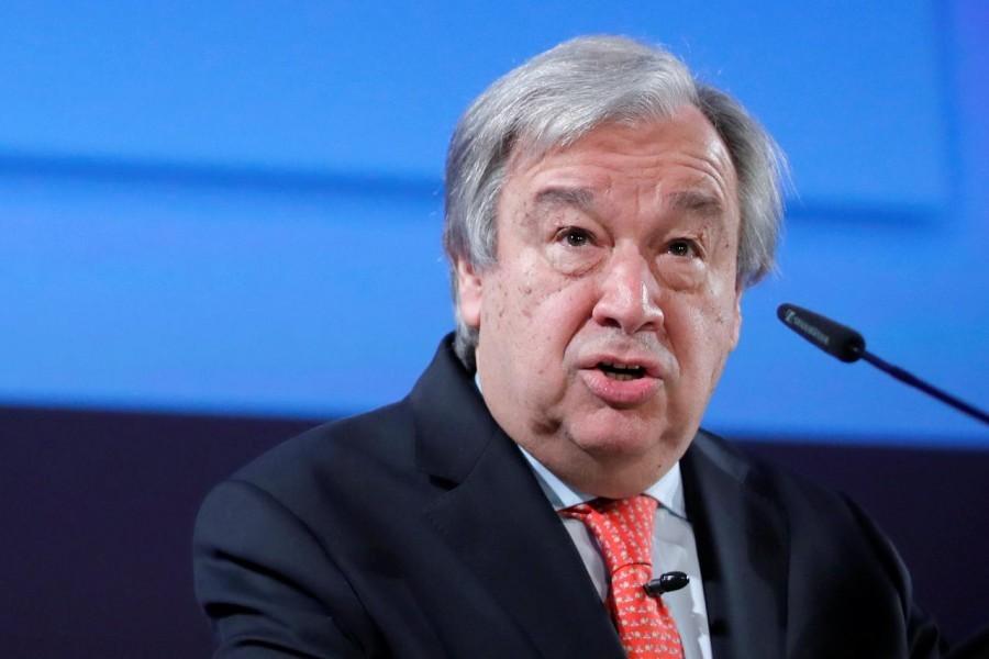 File photo of UN Secretary-General Antonio Guterres