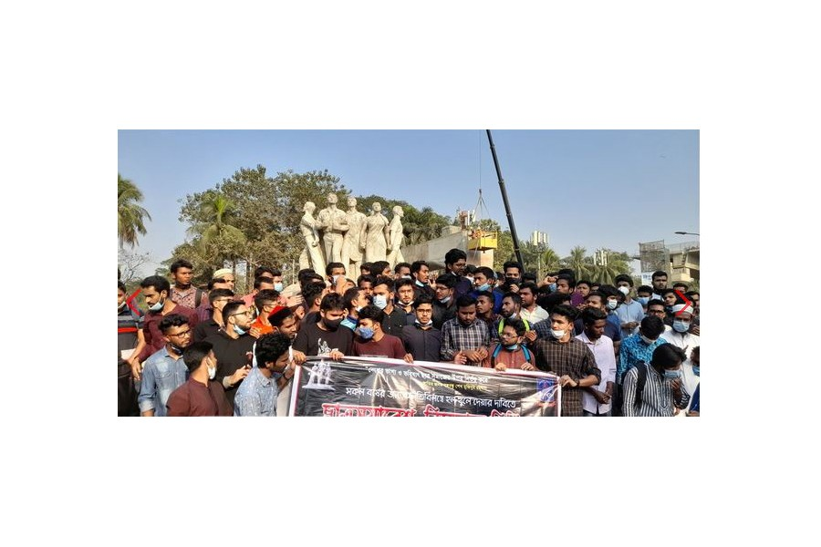 Students demand DU reopen halls within March 01