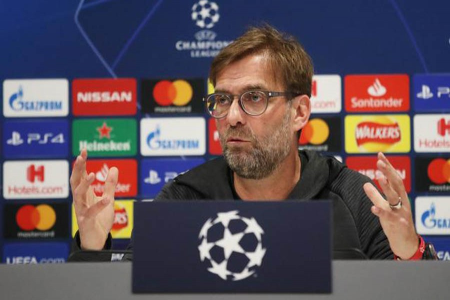 Football - Champions League - Liverpool Press Conference - Anfield, Liverpool, Britain - March 10, 2020 Liverpool manager Juergen Klopp during the press conference — Action Images via Reuters
