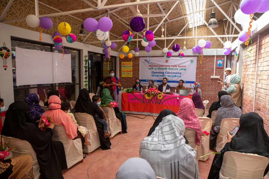 IOM opens 'safe space' for women in Cox's Bazar