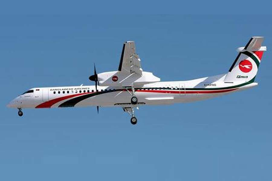 Third Dash-8 aircraft 'Shwetbalaka' arrives in Dhaka