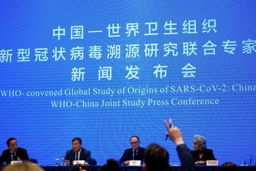 Peter Ben Embarek, a member of the World Health Organization (WHO) team tasked with investigating the origins of the coronavirus disease (Covid-19), attends the WHO-China joint study news conference at a hotel in Wuhan, Hubei province, China on February 9, 2021 — Reuters photo