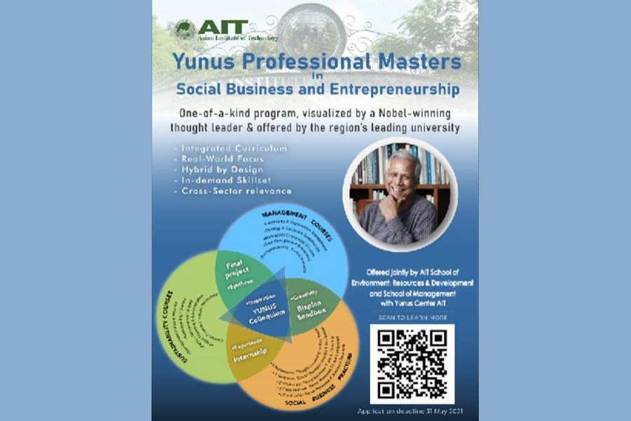 Asian Institute of Technology in Bangkok launches 'Yunus Professional Master's Degree'