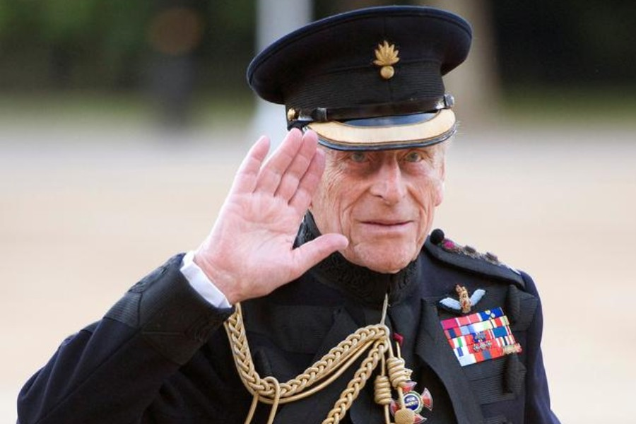 Britain's Prince Philip arrives on the eve of his 90th birthday to take the salute of the Household Division Beating Retreat on Horse Guards Parade in London June 9, 2011. REUTERS/Paul Edwards/Pool/File Photo