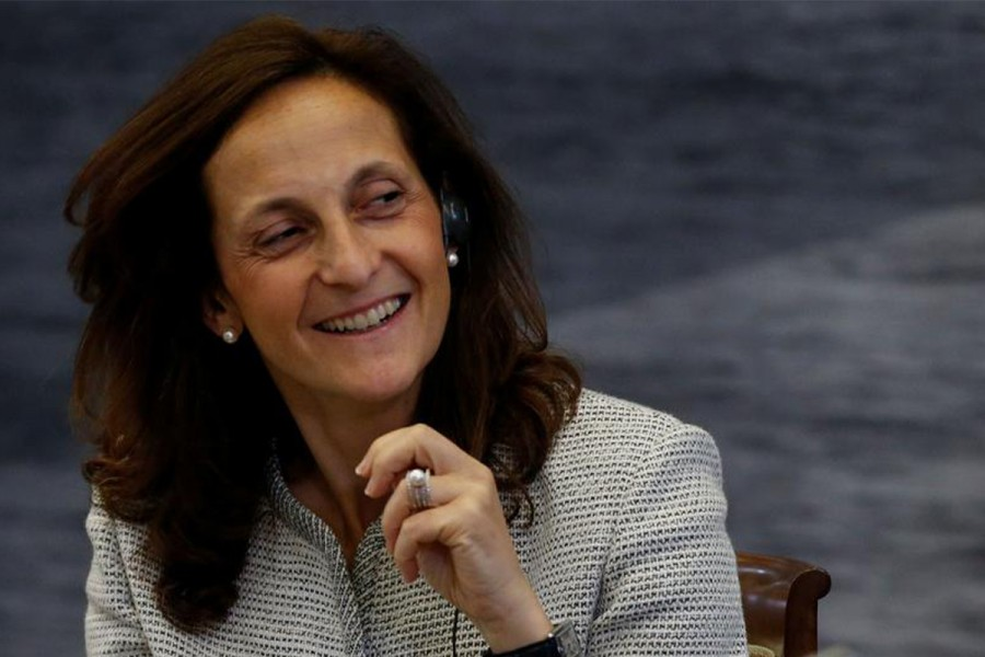 Alessandra Galloni is seen in this undated Reuters photo
