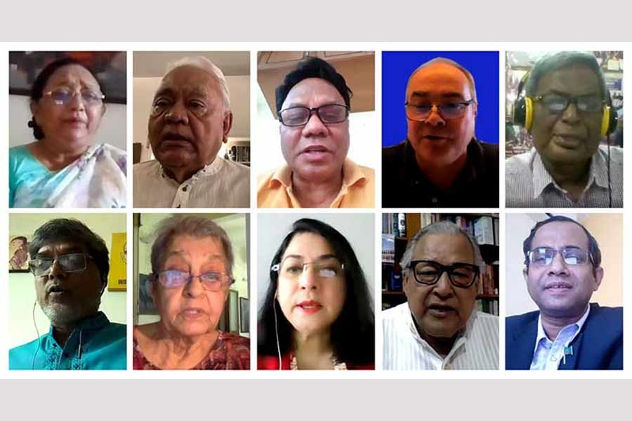 """Participants at a virtual dialogue on """"Recovery of the Labour Market during COVID-19: Role of Trade Union"""""""
