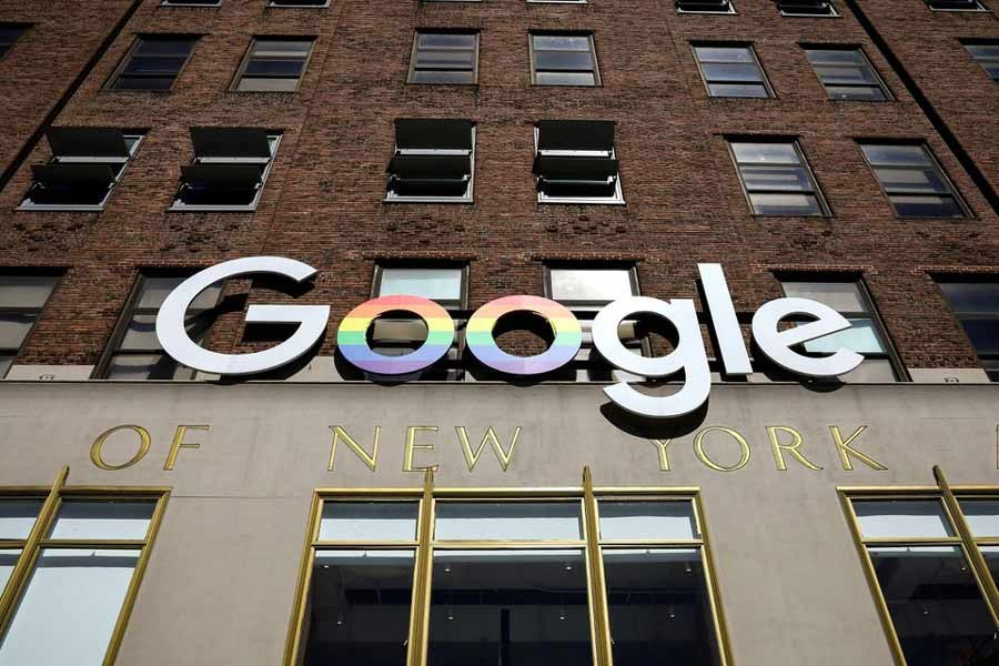 The Google logo is displayed outside the company offices in New York of the United States -Reuters file photo