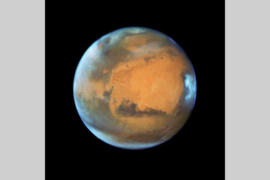 The planet Mars is shown in this NASA Hubble Space Telescope view taken May 12, 2016. NASA/Handout via Reuters