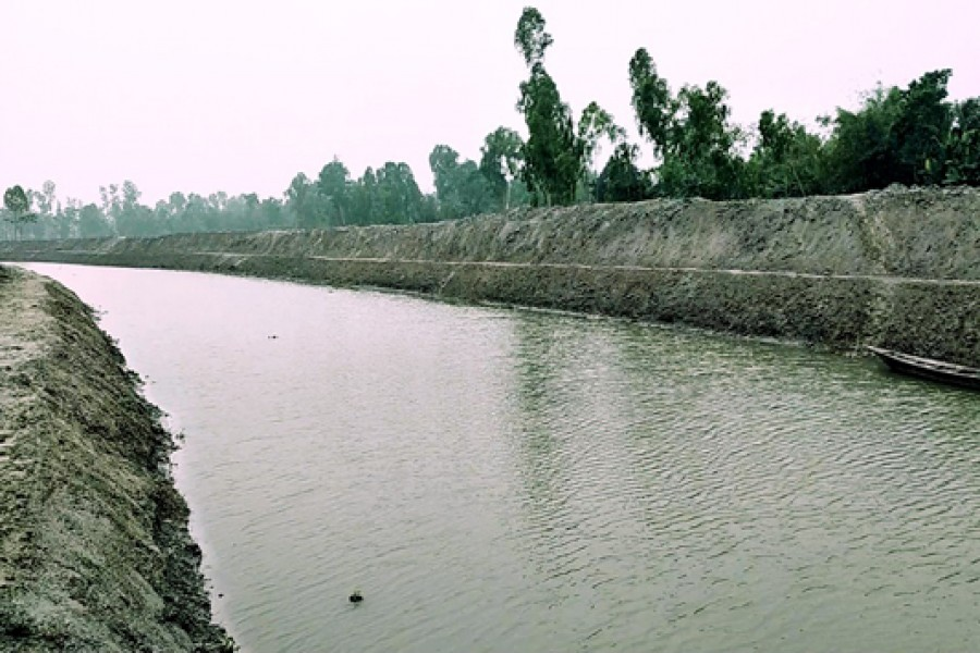 Tk 2.5b surface water conservation project progressing in Rangpur