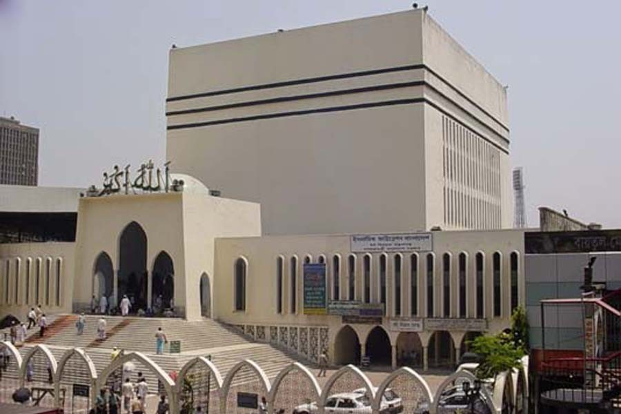 Five Eid jamaats to be held at Baitul Mukarram Mosque