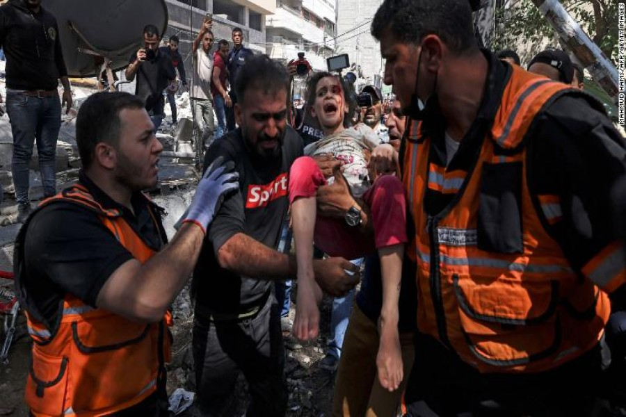 Israel-Palestinian conflict marks its deadliest day as scenes of horror unfold in Gaza