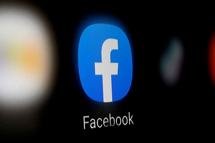 A Facebook logo is displayed on a smartphone in this illustration taken January 6, 2020. REUTERS/Dado Ruvic/Illustration/File Photo