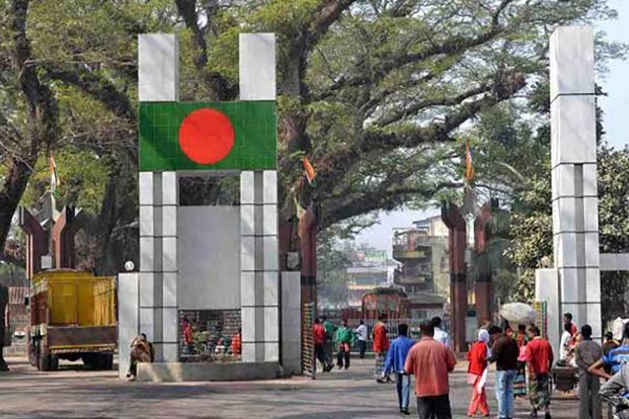 A view of the Benapole-Petrapole checkpost between Bangladesh and India. — Collected Photo