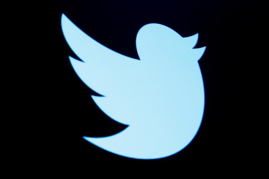 The Twitter logo is seen in this undated Reuters photo