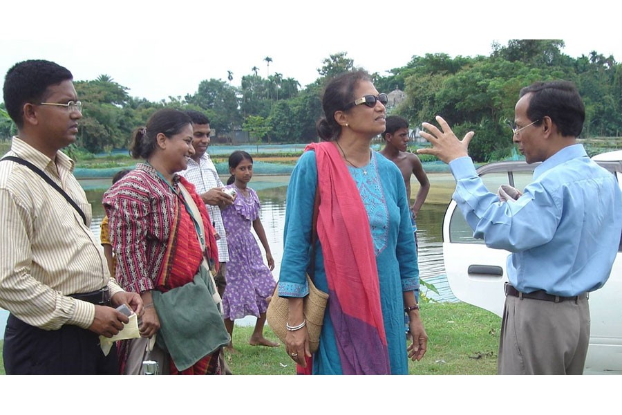 Dr. Shakuntala Haraksingh Thilsted, laureate of World Food Prize 2021 talks with fisheries scientist