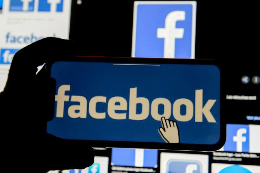 The Facebook logo is displayed on a mobile phone in this picture illustration taken on December 2, 2019 — Reuters/Files