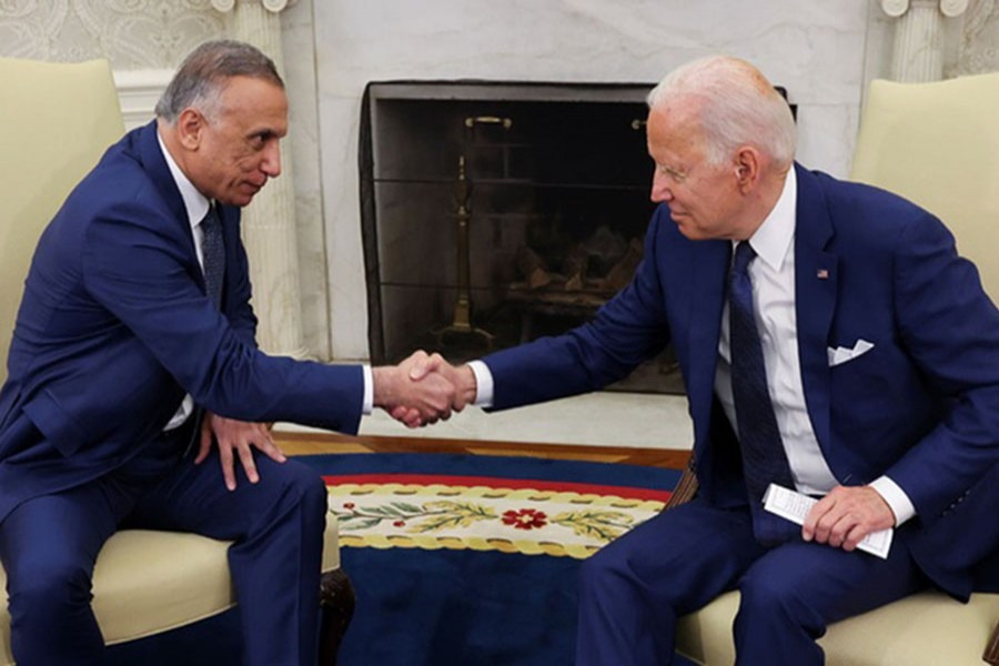 Biden, Kadhimi seal agreement to end  US combat mission in Iraq by year end