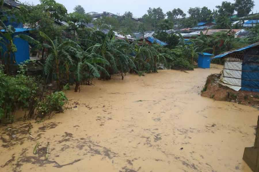 General view of a flooded area following heavy monsoon rains at Cox's Bazar. The photo was taken on July 27 -Reuters file photo
