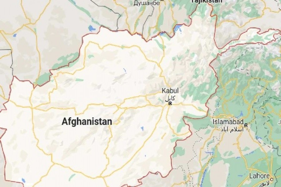 Map of Afghanistan. Screenshot taken from Google Maps