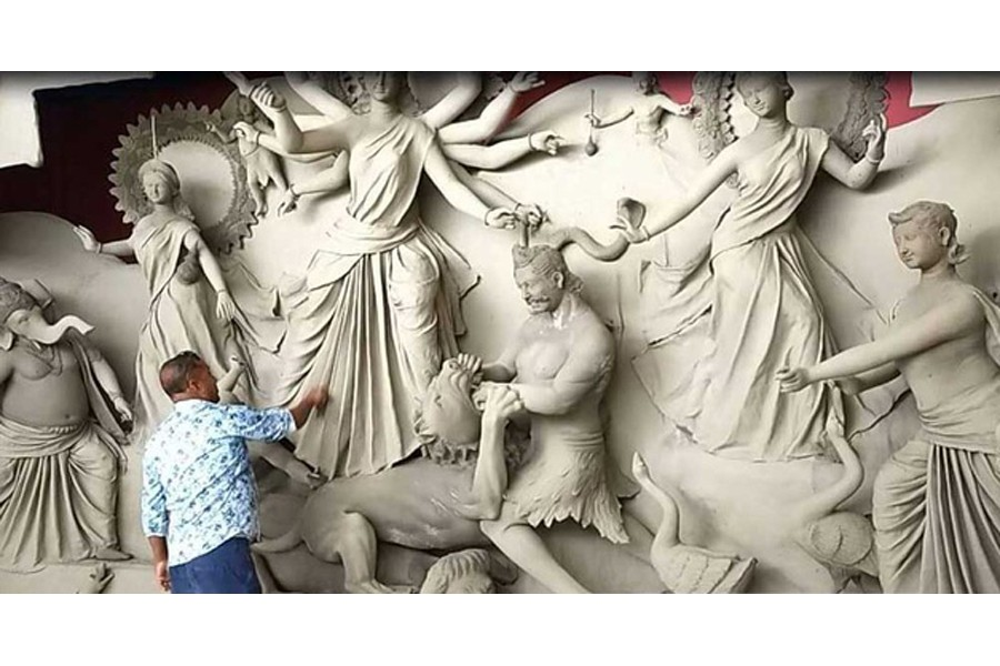 A race against time for artisans ahead of Durga Puja