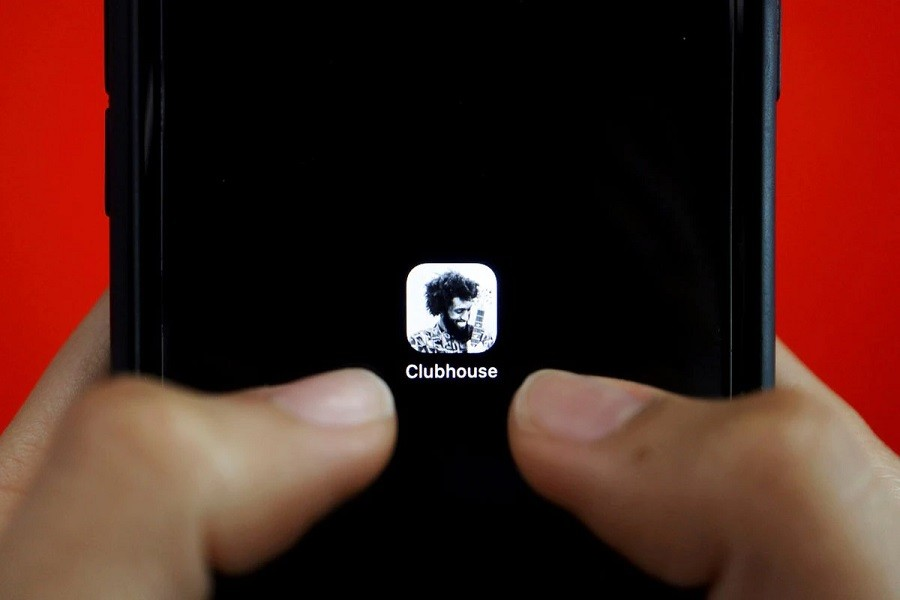 The social audio app Clubhouse is seen on a mobile phone in this illustration picture taken February 8, 2021 — Reuters/Florence Lo/Illustration