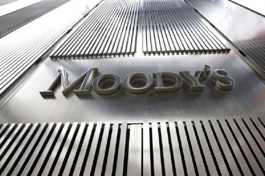 A Moody's sign on the 7 World Trade Center tower is photographed in New York August 2, 2011. Reuters