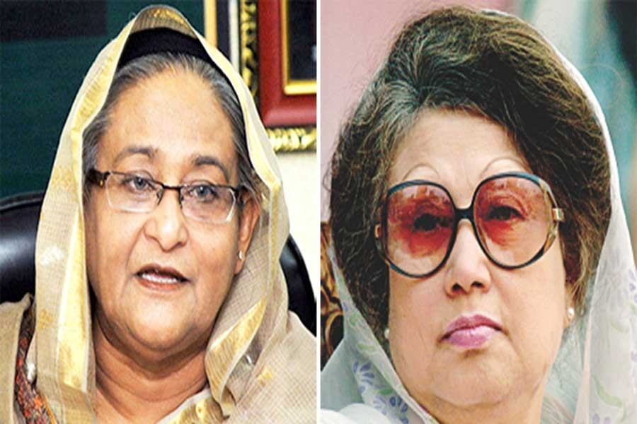 Hasina sends Eid card to Khaleda