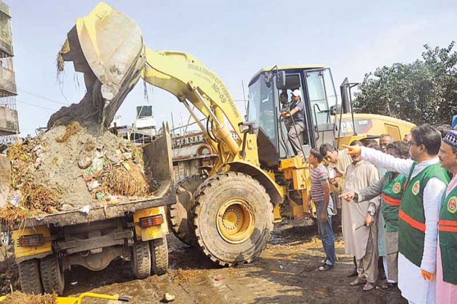 Removal of waste on Eid day