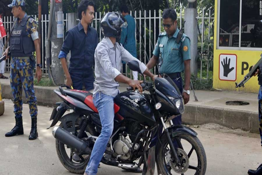 Motor cycle without registration must not ply on road