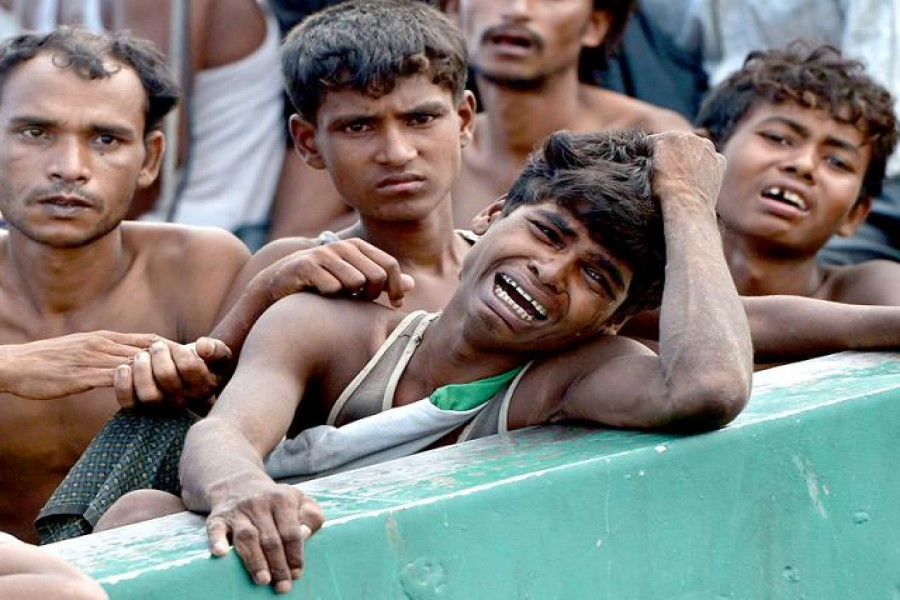 Rohingyas crying for help