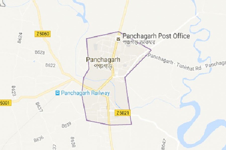 Panchagarh district seen on the map.