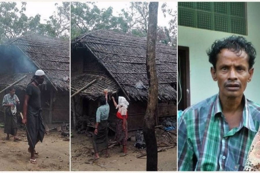 Inspection shows that Rohingya did not set fire to their own houses as claimed by an official narrative of Myanmar showing these photos taken in Maungdaw, in northern Rakhine state, Myanmar. AP
